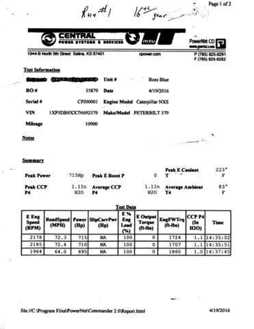 2007 Peterbilt 379 Cat 800 HP, 18 Speed, 90 Day Warranty For