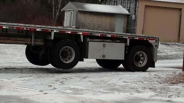 2014 Mac Flatbed Trailer 48x102, Aluminum, Spread Axle For